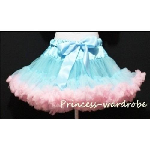 Light Blue Light Pink Teen Full Pettiskirt XXL AP31