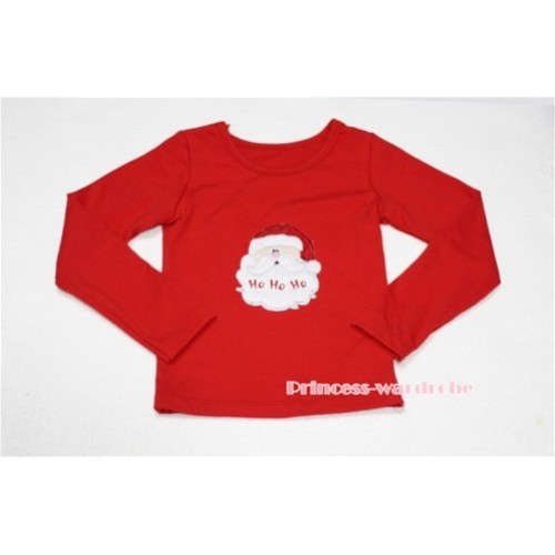 Christmas Santa Claus Red Long Sleeves Top TW75