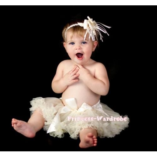 Cream White Baby Pettiskirt N56