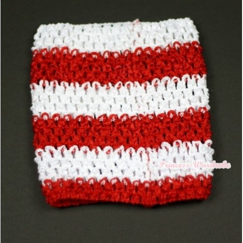 Red White Striped Crochet Tube Top CT253