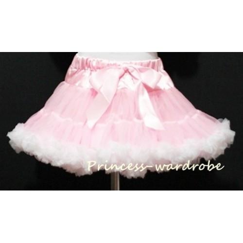 Light Pink White Teen Full Pettiskirt XXL AP35