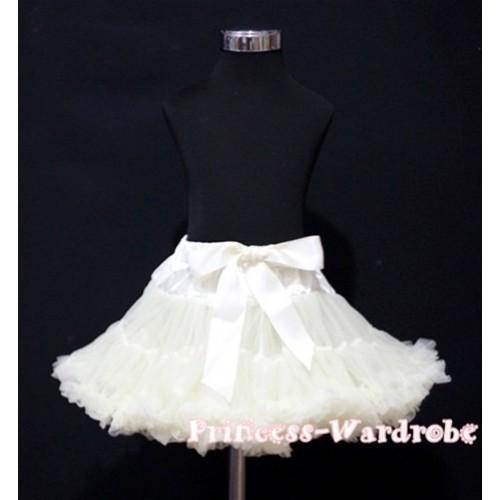 Cream White Teen Full Pettiskirt XXL AP41