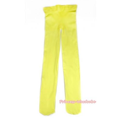 Plain Yellow Leggings Skinny Pants Tights LG258