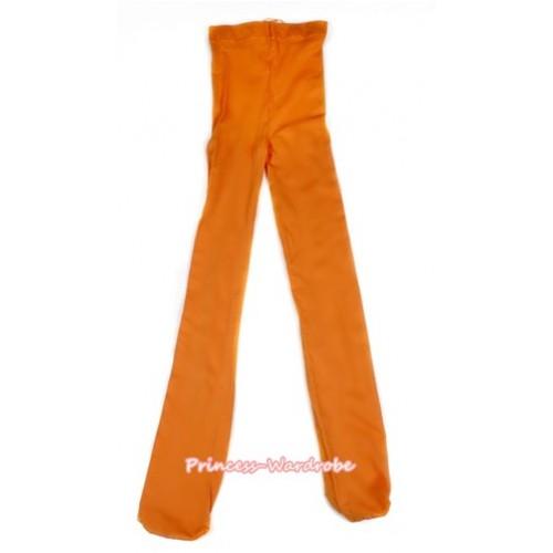 Plain Orange Leggings Skinny Pants Tights LG259