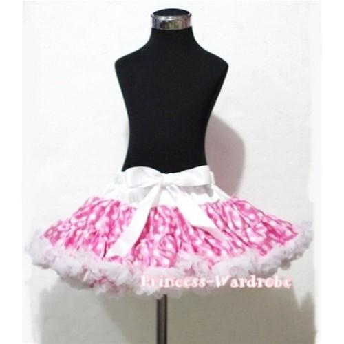 Hot Pink White Polka Dot Teen Full Pettiskirt XXL AP43