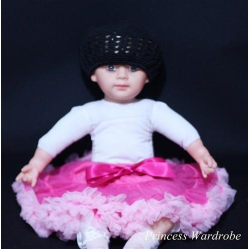Hot Light Pink PREMIUM New Born Pettiskirt D01