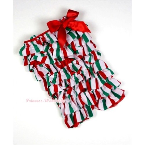 Christmas Stick Petti Romper with Red Bow LR123