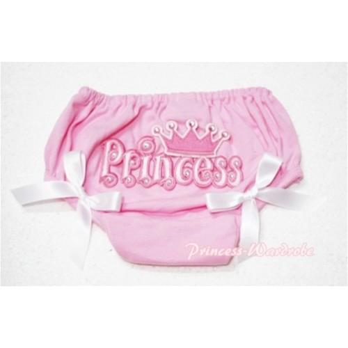 Pink Bloomers & Princess Logo & White Bow BC54