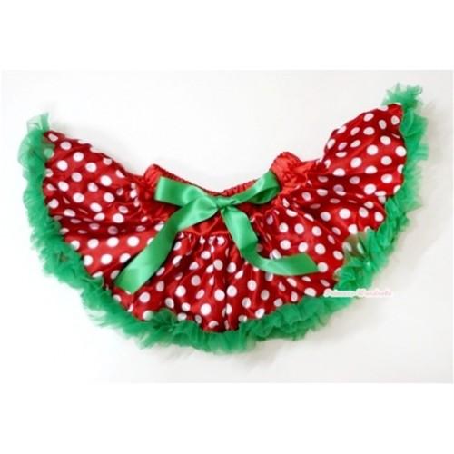 Christmas Polka Dots Newborn Pettiskirt N101