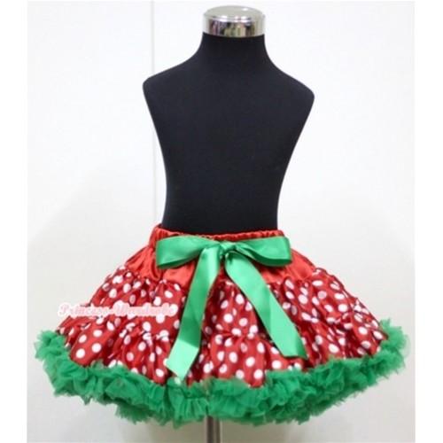 Christmas Polka Dots Full Pettiskirt P145