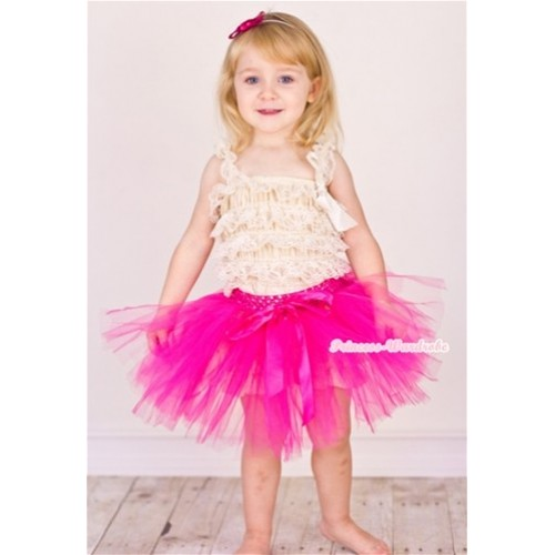 Hot Pink Ballet Tutu with Hot Pink Bow B137