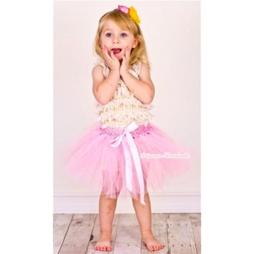 Light Pink Ballet Tutu with Light Pink Bow B135