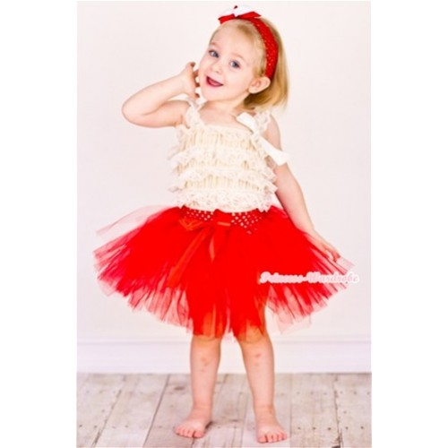 Red Ballet Tutu with Red Bow B136