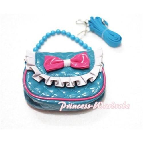 Aqua Blue Little Cute Handbag Petti Bag Purse CB05