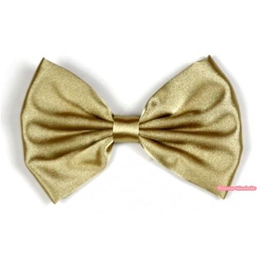 Goldenrod Satin Bow Hair Clip H520