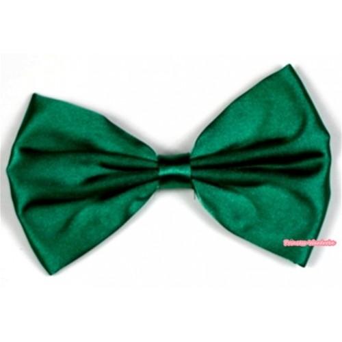Kelly Green Satin Bow Hair Clip H519