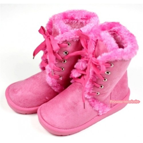 Hot Pink Mid Calf Warm Children Boot SB28