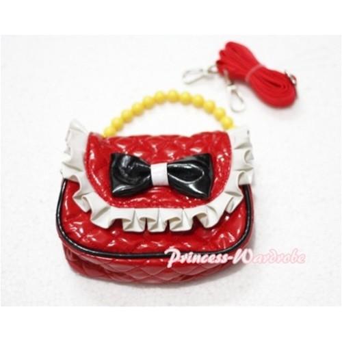 Black Bow Red Little Cute Handbag Petti Bag Purse CB04