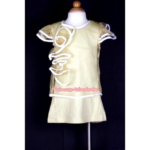 Goldenrod Pattern Wedding Party Dress PD032