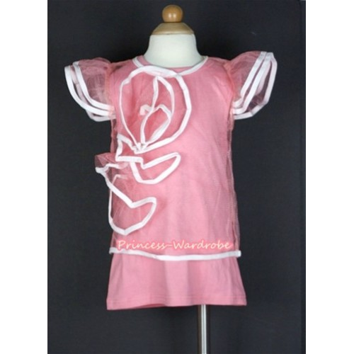 Light Pink Pattern Wedding Party Dress PD033