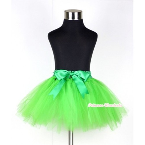 Bright Green Ballet Tutu with Bow B139