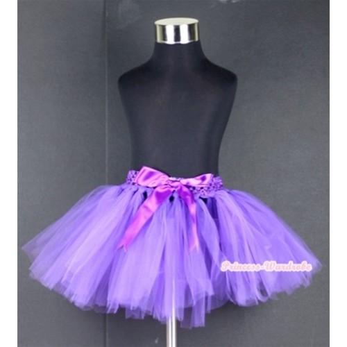 Dark Purple Ballet Tutu with Bow B140