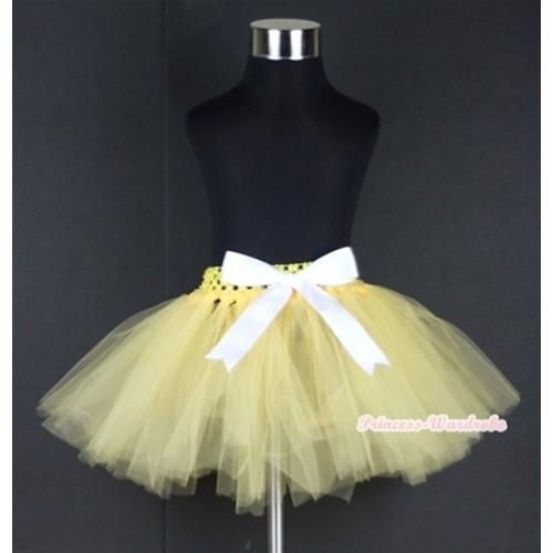 Yellow Ballet Tutu with White Bow B142