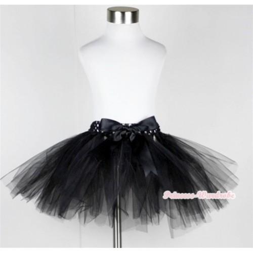 Black Ballet Tutu with Bow B144