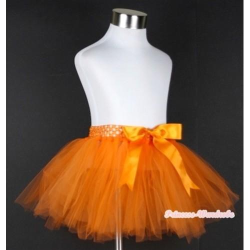 Orange Ballet Tutu with Bow B145