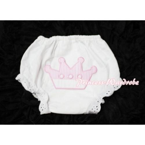 Sweet Crown Print White Panties Bloomers LD39