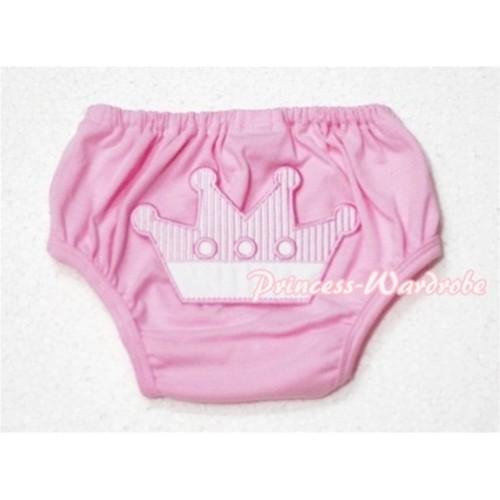 Sweet Crown Print Light Pink Panties Bloomers LD55