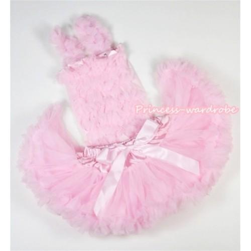 Light Pink Baby Ruffles Tank Top with Light Pink Baby Pettiskirt NR31
