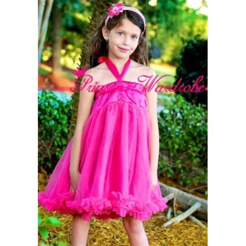 Hot Pink Chiffon Pettidress P84