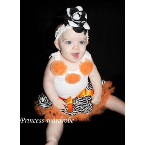 Orange Zebra New Born Pettiskirt N22