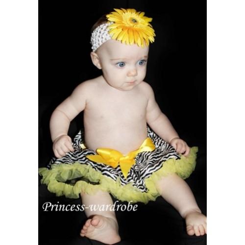 Yellow Zebra New Born Pettiskirt N26