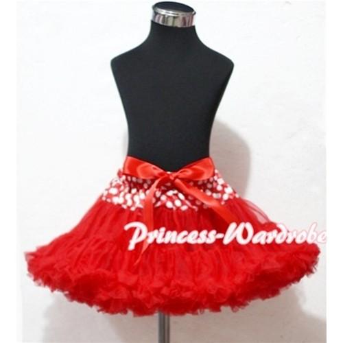 Minnie Waist Red Full Pettiskirt P119