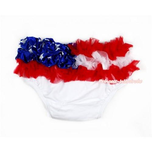 America Flag Ruffles World Cup Panties Bloomers B067